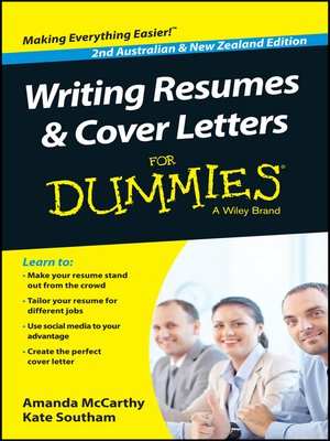 cover image of Writing Resumes and Cover Letters For Dummies