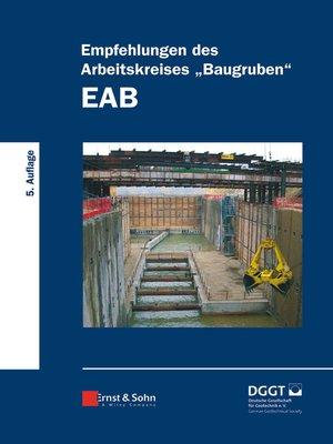 "cover image of Empfehlungen des Arbeitskreises ""Baugruben"" (EAB)"