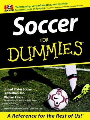cover image of Soccer For Dummies