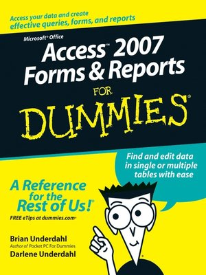 cover image of Access 2007 Forms and Reports For Dummies