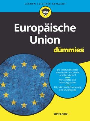 cover image of Europäische Union für Dummies