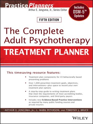 cover image of The Complete Adult Psychotherapy Treatment Planner