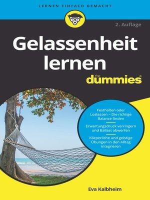 cover image of Gelassenheit lernen für Dummies