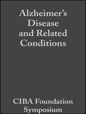 cover image of Alzheimer's Disease and Related Conditions