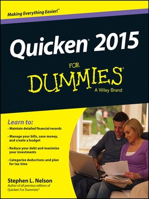 cover image of Quicken 2015 For Dummies