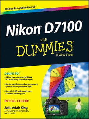 cover image of Nikon D7100 For Dummies