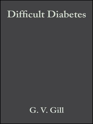 cover image of Difficult Diabetes