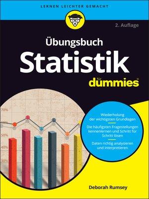 cover image of Übungsbuch Statistik für Dummies