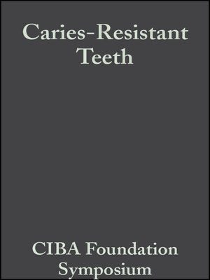 cover image of Caries-Resistant Teeth