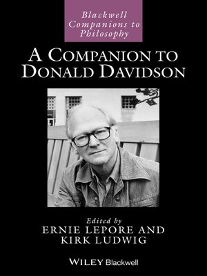 cover image of A Companion to Donald Davidson