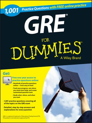 cover image of 1,001 GRE Practice Questions For Dummies (+ Free Online Practice)