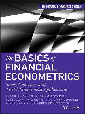cover image of The Basics of Financial Econometrics