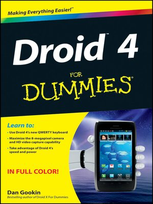 cover image of Droid 4 For Dummies