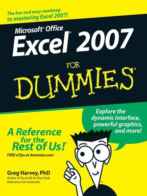 cover image of Excel 2007 For Dummies