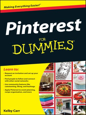 cover image of Pinterest For Dummies