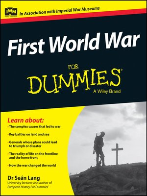 cover image of First World War For Dummies