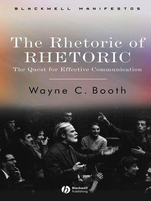 cover image of The Rhetoric of RHETORIC