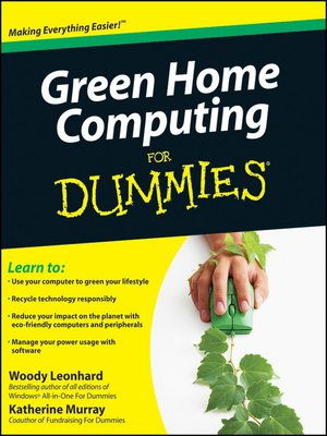 cover image of Green Home Computing For Dummies