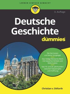 cover image of Deutsche Geschichte für Dummies