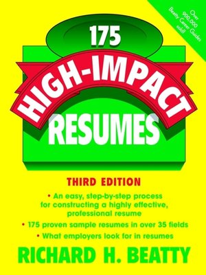 cover image of 175 High-Impact Resumes