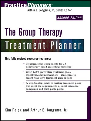 cover image of The Group Therapy Treatment Planner