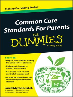 cover image of Common Core Standards For Parents For Dummies