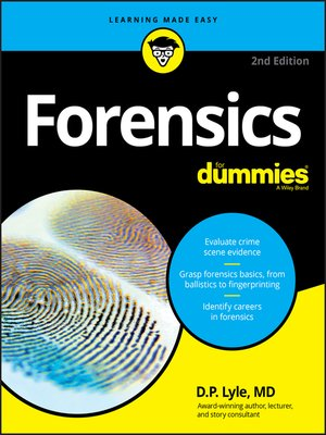 cover image of Forensics For Dummies