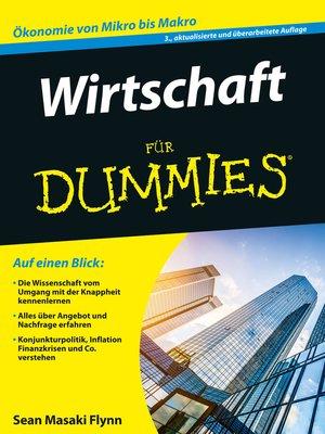 cover image of Wirtschaft für Dummies