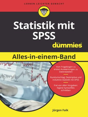 cover image of Statistik mit SPSS Alles in einem Band für Dummies