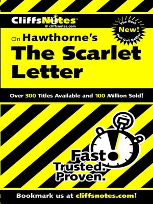 cover image of CliffsNotes on Hawthorne's The Scarlet Letter