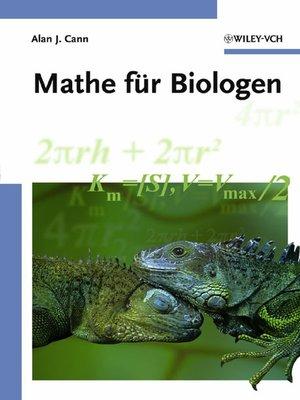 cover image of Mathe für Biologen