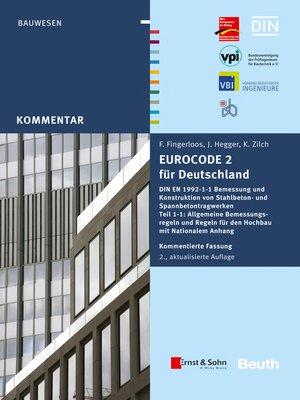 cover image of Eurocode 2 für Deutschland