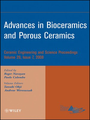 cover image of Advances in Bioceramics and Porous Ceramics