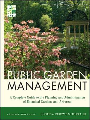 cover image of Public Garden Management