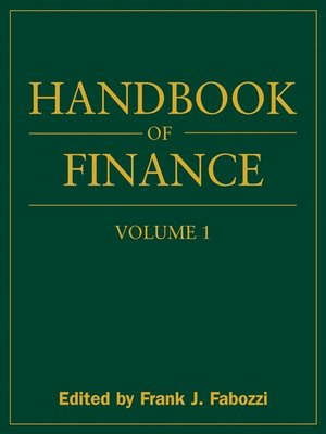 cover image of Handbook of Finance, Financial Markets and Instruments