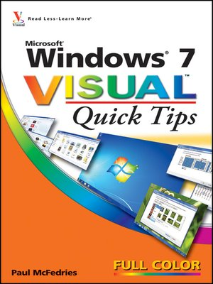 cover image of Windows 7 Visual Quick Tips