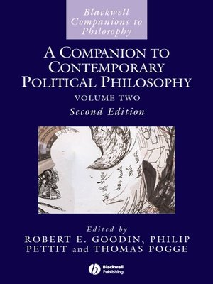 cover image of A Companion to Contemporary Political Philosophy