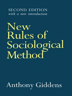 cover image of New Rules of Sociological Method