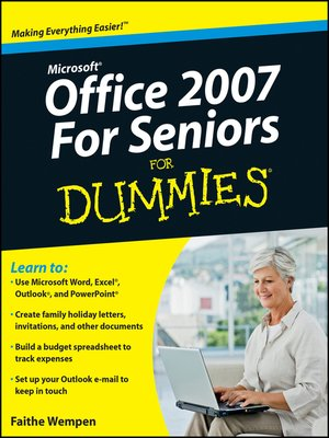 cover image of Microsoft Office 2007 For Seniors For Dummies