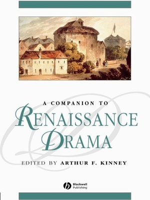 cover image of A Companion to Renaissance Drama