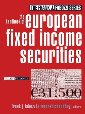 cover image of The Handbook of European Fixed Income Securities