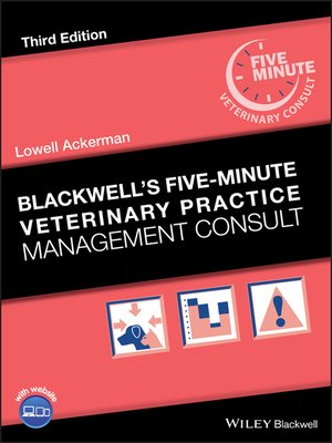 cover image of Blackwell's Five-Minute Veterinary Practice Management Consult