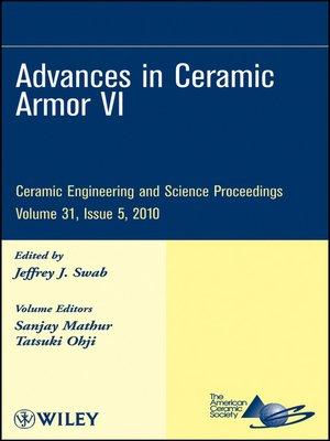 cover image of Advances in Ceramic Armor VI