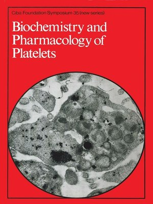 cover image of Biochemistry and Pharmacology of Platelets