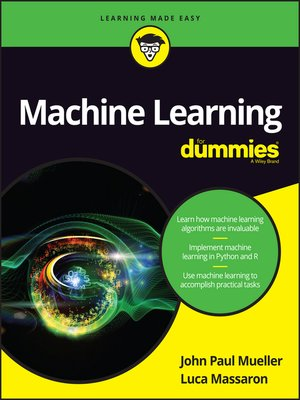 cover image of Machine Learning For Dummies