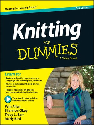cover image of Knitting For Dummies