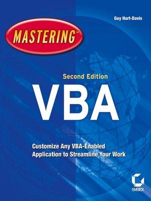 cover image of Mastering MIcrosoft VBA