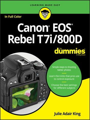 cover image of Canon EOS Rebel T7i/800D For Dummies