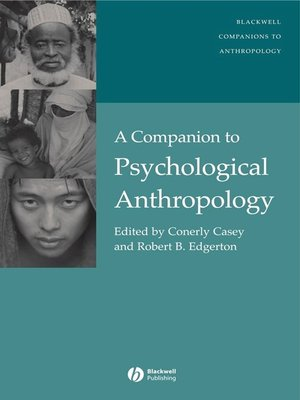 cover image of A Companion to Psychological Anthropology