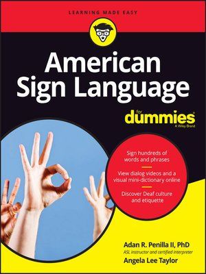cover image of American Sign Language For Dummies with Online Videos